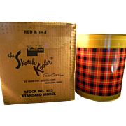 Vintage 1950's Plaid Skotch Kooler in Original Box with Original Use & Care Booklet