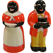 SOLD Vintage Aunt Jemima & Uncle Moses Plastic Salt & Pepper Shakers