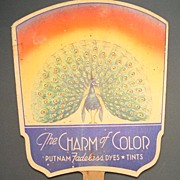 """""""The Charm of Color"""" Advertising Fan by Putnam Fadeless Dyes and Tints"""