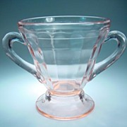 Pink Homestead Sugar Bowl by L.E. Smith Glass Company