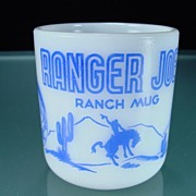 Blue Ranger Joe Kiddie Mug by Hazel Atlas