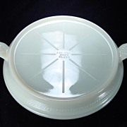 Fire King Ivory 2-Handled Table Server