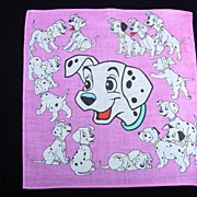 SOLD Vintage Dalmatians Children's Handkerchief