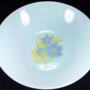 """Fire King """"Forget-Me-Not"""" Vegetable Bowl"""