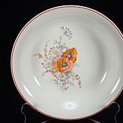 Vintage Poppy Pattern Soup Plate by Universal Potteries