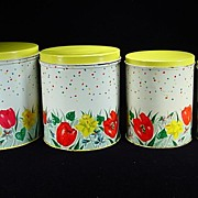 Colorful Vintage Canister Set