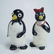 SOLD Willie & Millie Penguin Salt & Pepper Shakers