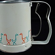 Vintage Androck Ducks Pattern Flour Sifter