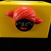 SOLD Vintage 1950's Yellow Mammy/Aunt Jemima Recipe Box
