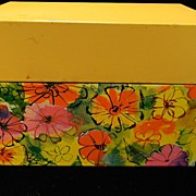 Colorful Vintage Ohio Art Floral Recipe Box