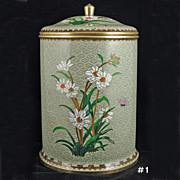 SOLD Vintage Chinese Cloisonne Cookie Jar