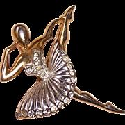 Vintage Hallmarked Marcel Boucher Phrygian Cap Ballet of Jewels Ballerina Dancer Rhinestone Pi
