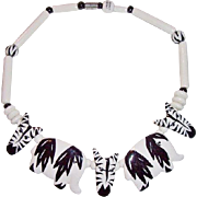 REDUCED Ruby Z Candace Loheed Ceramic Wild Zoo Animal Zebra Necklace