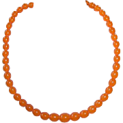 REDUCED Vintage Baltic Butterscotch Honey Amber Bead Necklace