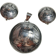 SOLD Vintage Native American TSM, Mimbres Miniatures Collection, Sterling Silver Turtle Pendan