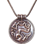 REDUCED Vintage David Anderson Sterling Silver Viking Pendant Reproduction Origin 500 A.D.