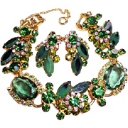 REDUCED Juliana D&E Emerald Green Bracelet & Earrings Set
