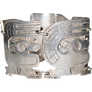 REDUCED Vintage GRAZIELLA LAFFI Sterling Silver Bird Panel Bracelet