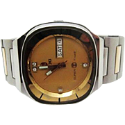 SALE Vintage 1970s Mens Rado Super Time automatic wristwatch day/date very fine runs