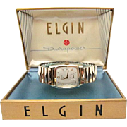 SALE Vintage 1954 Mens Elgin Sinclair model original case MUST SEE MINTY!!!