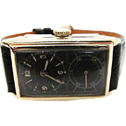 SALE Vintage super rare 1935 mens Hamilton Seckron Doctors watch with black dial 980A Cal