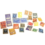 Antique early 1900s era lot of new and used cancelled stamps from Venezuela