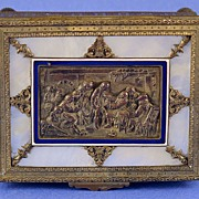 SALE Exquisite, Napoleon III, French, Palais Royal, Dore Bronze, Enamel & Mother of Pearl,