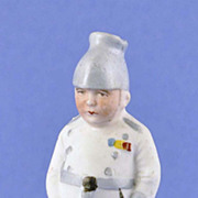 """SOLD Rare, Circa 1900, German, Bisque, Soldier, """"Little Squirt"""", Naughty / Naughtie,"""