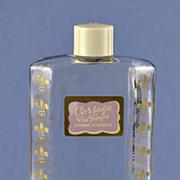 "SALE Rare! Circa 1930's, American, ""Corsage Du Temps"" Clear Glass, Commercial Perfume .."