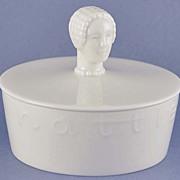 SALE Fabulous Figural! Vintage, American, Lenox, Figural, Hattie Carnegie, Trinket / Powder Ja