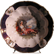 "R.S. Prussia Figural Decorated Porcelain Bowl ""DIANA THE HUNTRESS"""