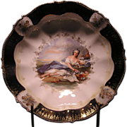 "R.S. Prussia Figural Decorated Bowl ""FLORA"""