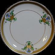 """Pickard china Art Nouveau Plate """"Blue Bells"""""""