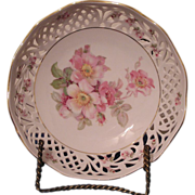 Schumann  Arzberg Germany, Rosedale pattern Porcelain Reticulated Bowl