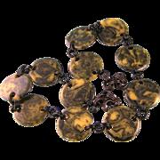 """Bold Bakelite Disk Necklace, 25-1/2"""""""
