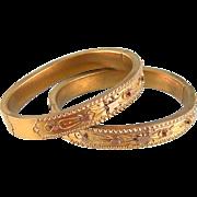 SALE Antique Victorian Bangle Bracelets, Matching Pair, Excellent Condition