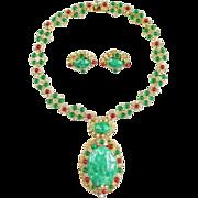 SALE Rare & Amazing Vendome Necklace & Earring Set