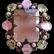 Beautiful Shades of Pink Schreiner Brooch