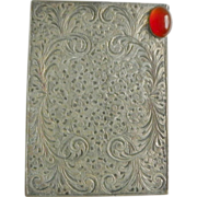 SOLD vintage 800 Silver Compact - Engraved Foliate Design