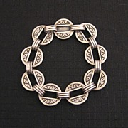 Modernist James Avery Heavy Sterling Link Bracelet 22g