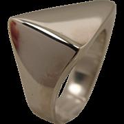 Georg Jensen Sterling Modernist Sculptural Ring