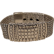 John Hardy Sterling Silver Dot Belt Bracelet  man or woman