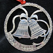 SALE Wallace Sterling Silver Christmas Ornament