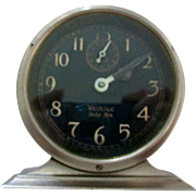 SALE PENDING Reduced Baby Ben Westclox, style 2 1927-1932, luminous nickel, alarm top slide, A