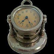 SALE PENDING Reduced Clock, small German, swinging, vintage early 1900s,
