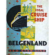 SALE Rare Vintage Cruise Memorabilia: S.S. Belgenland: Red Star Line: Deck map and Bermuda ...