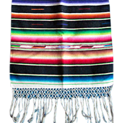 SOLD Mexican dresser scarf, Brilliant colors, excellent condition, 1950s or earlier,  like new