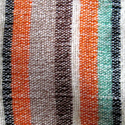 "SALE Reduced Hand Woven wool striped dresser scarf,  from 50s 36""x16"""