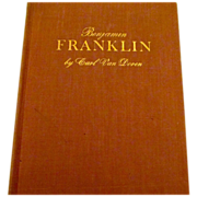 Reduced Benjamin Franklin, Carl Van Doren, First Edition, excellent condition