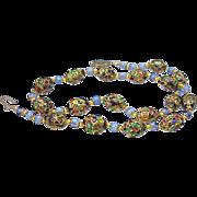 SALE Vintage Art Glass Venetian Beads Necklace